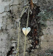 Náramky - Jesenné srdce náramok zlatý - 8217658_