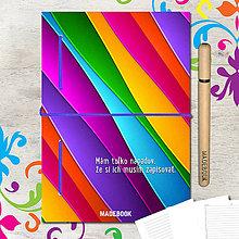 Papiernictvo - MADEBOOK kniha A5 - Farebné vlny - 8217100_
