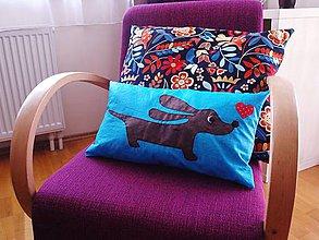 Textil - Vankuš Psík Bodro Modro - 8218811_