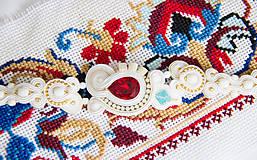 Náramky - Svadobný náramok folk - 8217334_