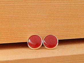 """Náušnice - Živicové náušnice """"želé"""" 10mm (červené) - 8216784_"""