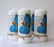 Svietidlá a sviečky - Sviečka s venovaním pre pani učiteľky v škôlke - Motýliková trieda - 8217608_