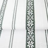 Textil - látka vyšívaný obrus, 100 % bavlna, šírka 140 cm, cena za 0,5 metra - 8217326_
