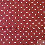 - červeno-biele bodky, 100 % bavlna, šírka 140 cm, cena za 0,5 m - 8217431_
