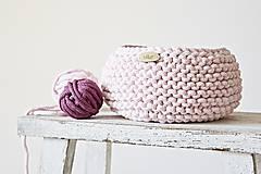 Pletený košík - ružový