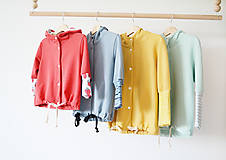 Detské oblečenie - Teplákový  kabátik - bio - 8217445_