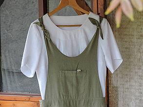Nohavice - Uzlíkové nohavice - overal - 8218781_