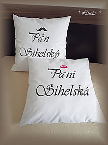 Úžitkový textil - obliečky Pán a Pani (biele) - 8217021_