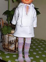 Bábiky - Mikinošaty pre Adelku a punčošky - 8218632_