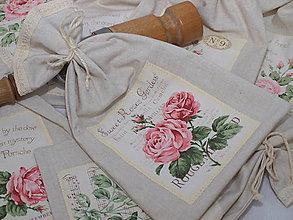 Úžitkový textil - ...vrecúško ruže... - 8218573_