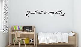 Nálepky na stenu - Football is my life