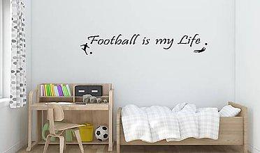 Dekorácie - Nálepky na stenu - Football is my life (Oranžová) - 8217293_