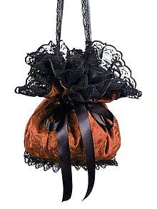 Kabelky - Zamatová kabelka  pompadúrka s čipkou v štýle burlesk - gothic  0090 - 8221372_
