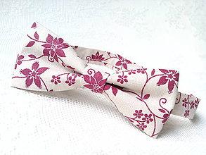 Doplnky - Romantický vintage pánsky motýlik - 8219953_