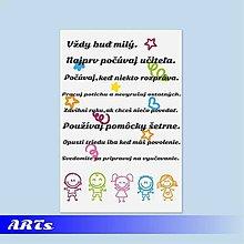 Dekorácie - (060t) Tabuľka - Pravidlá našej triedy I. - 8221040_