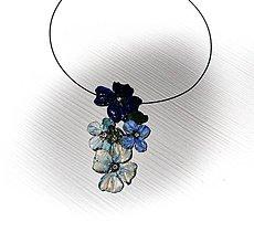 Náhrdelníky - blue flowers - 8219844_