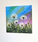 Obrazy - Maľovaný obraz-Chladivý letný podvečer - 8221480_