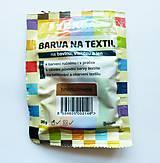 - Batikovacia farba na bavlnu, viskózu, ľan - 20 g (hnedá) - 8221380_