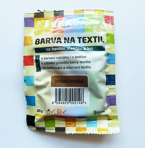 Batikovacia farba na bavlnu, viskózu, ľan - 20 g (hnedá)