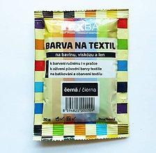 Farby-laky - Batikovacia farba na bavlnu, viskózu, ľan - 20 g (čierna) - 8221334_
