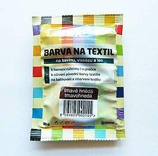 Farby-laky - Batikovacia farba na bavlnu, viskózu, ľan - 20 g (tmavohnedá) - 8221352_