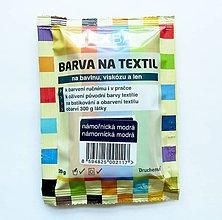 Farby-laky - Batikovacia farba na bavlnu, viskózu, ľan - 20 g (námornícka modrá) - 8221424_
