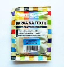 Farby-laky - Batikovacia farba na bavlnu, viskózu, ľan - 20 g (svetlomodrá) - 8221448_