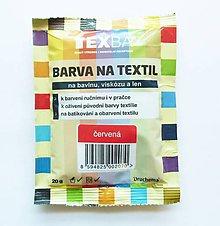 Farby-laky - Batikovacia farba na bavlnu, viskózu, ľan - 20 g (červená) - 8221500_
