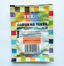 Farby-laky - Batikovacia farba na bavlnu, viskózu, ľan - 20 g (oranžová) - 8221527_