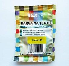 Farby-laky - Batikovacia farba na bavlnu, viskózu, ľan - 20 g (žltá) - 8221545_