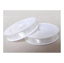 Galantéria - Elastický silikónový vlasec 0,8mm /10m - 8222301_