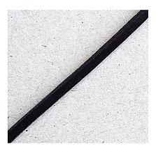 Galantéria - Kožený remienok, čierny 3x2,5mm/0,5m - 8222322_