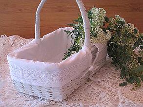 Košíky - Košík- Na svadobné pagáčiky-koláčiky - 8220514_