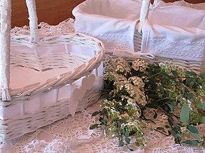 Košíky - Košíky-Svadobná súprava biela - 8220540_