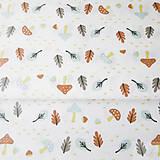 - dubový les; 100 % bavlna Francúzsko, šírka 160 cm, cena za 0,5 m - 8220293_