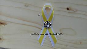 Svadobné pierka - žltá