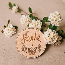 Odznaky/Brošne - SAShE - brošňa s folk ornamentom - 8222222_