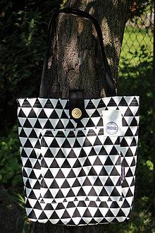 Nákupné tašky - Taška pro slečny, paní- Černobílá - 8221091_