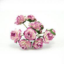 Papier - Ruže z morušového papiera - tónované tmavo-ružové (1cm) - 8219395_