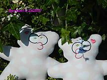 Hračky - Simonka + Sašenka ( Mackovia pre dvojičky dievčatká )  - 8221530_
