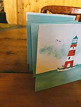 Papiernictvo - Leporelo 13x13 ,,Lighthouse,, - 8220178_