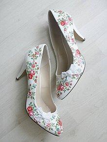 Obuv - Rozkvitla lúka topánočky - 8221416_