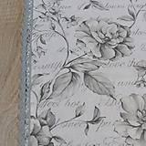 - Sivé kvety na bielej - podsedáky na objednávku - 8221640_