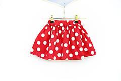 - Detská sukňa Red & dots - 8220120_