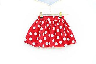 Detské oblečenie - Detská sukňa Red & dots - 8220120_