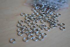 Komponenty - Spájacie krúžky chirurgická oceľ 5mm, 0.15€/10ks - 8219624_