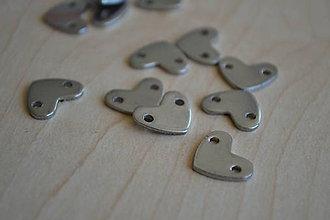 Komponenty - Konektor srdce chirurgická oceľ 14mm, 0.60€/ks - 8219693_