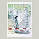Obrazy - Velká voda - originál, velký akvarel - 8221752_
