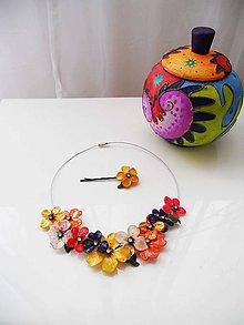 Náhrdelníky - exotik flowers - 8223279_