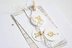 Papiernictvo - Pozdrav pre bábätko - Myšky hryzky I - 8223085_